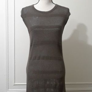 All Saints - Army Green Mesh Dress
